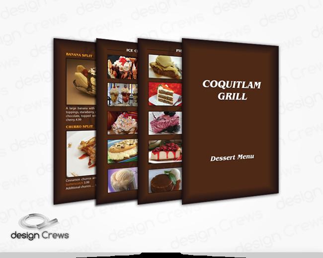 Restaurant Menu/Leaflets